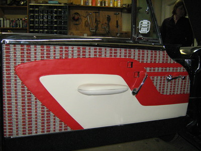 Classic car door upholstery